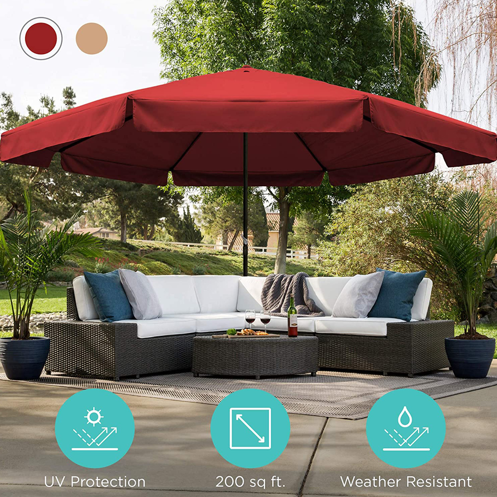 16ft Extra Large Outdoor Patio Umbrella